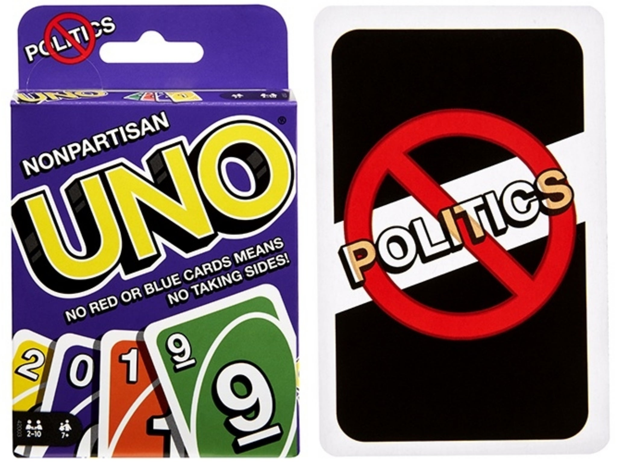 Uno deck removes red and blue cards to keep Thanksgiving dinner poli…