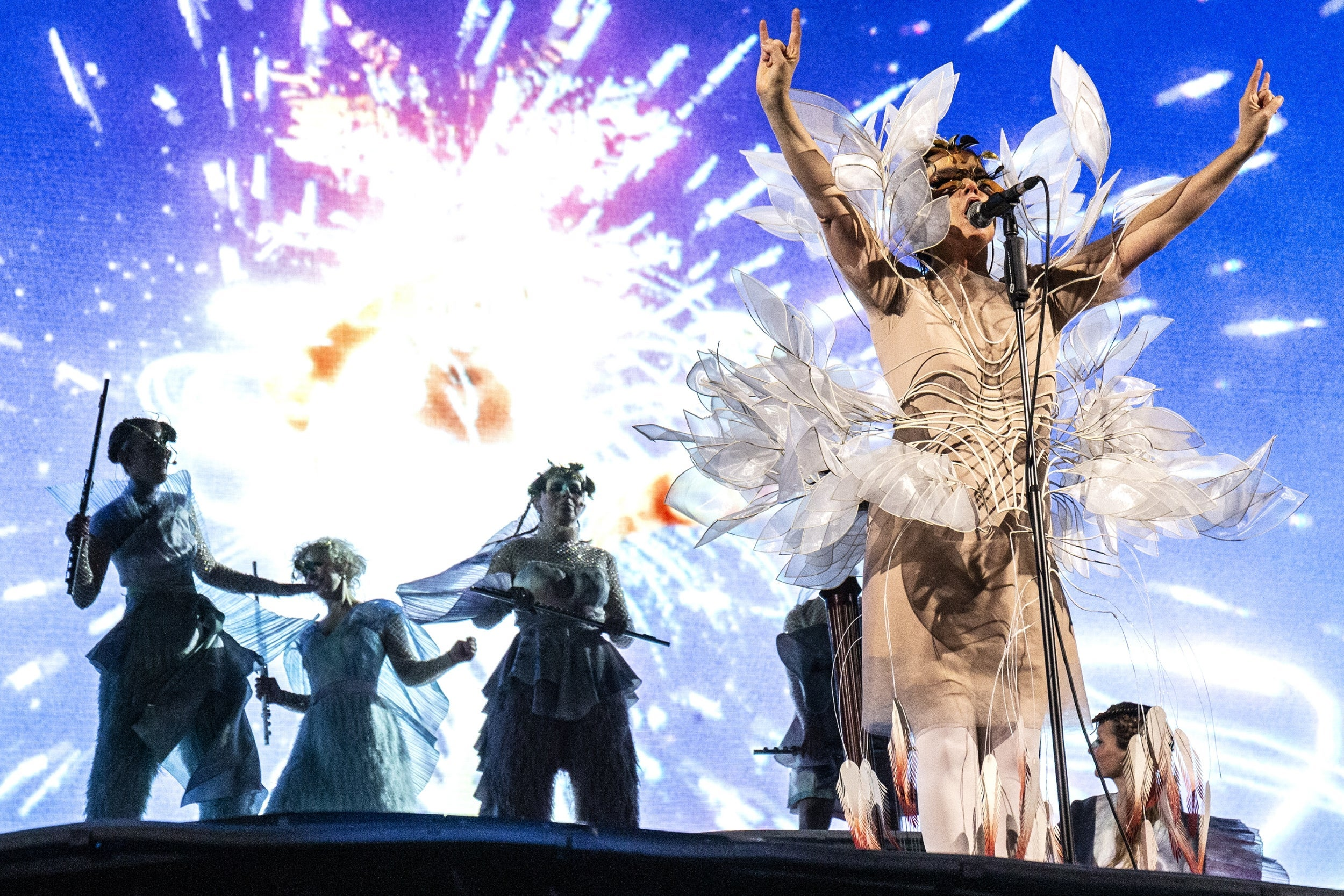 Bjork breathes rich, slippery life into London's most barren concert space – review