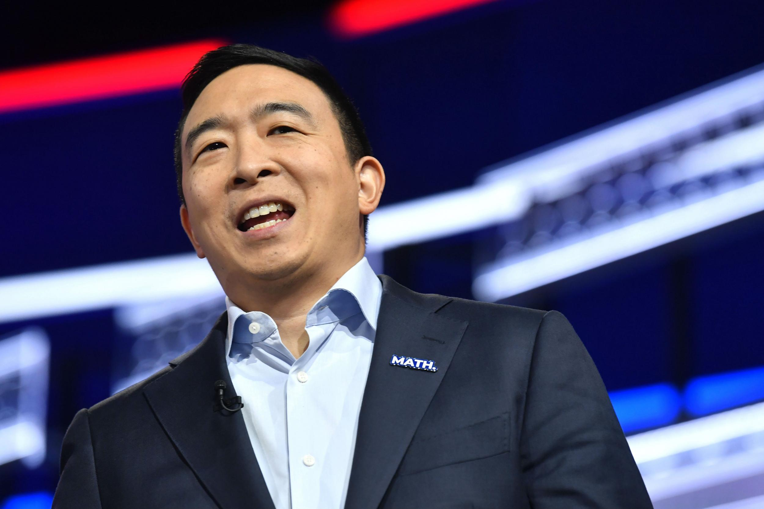 Democratic debate: Andrew Yang 'ignored' for more than 30 minutes before being asked a question