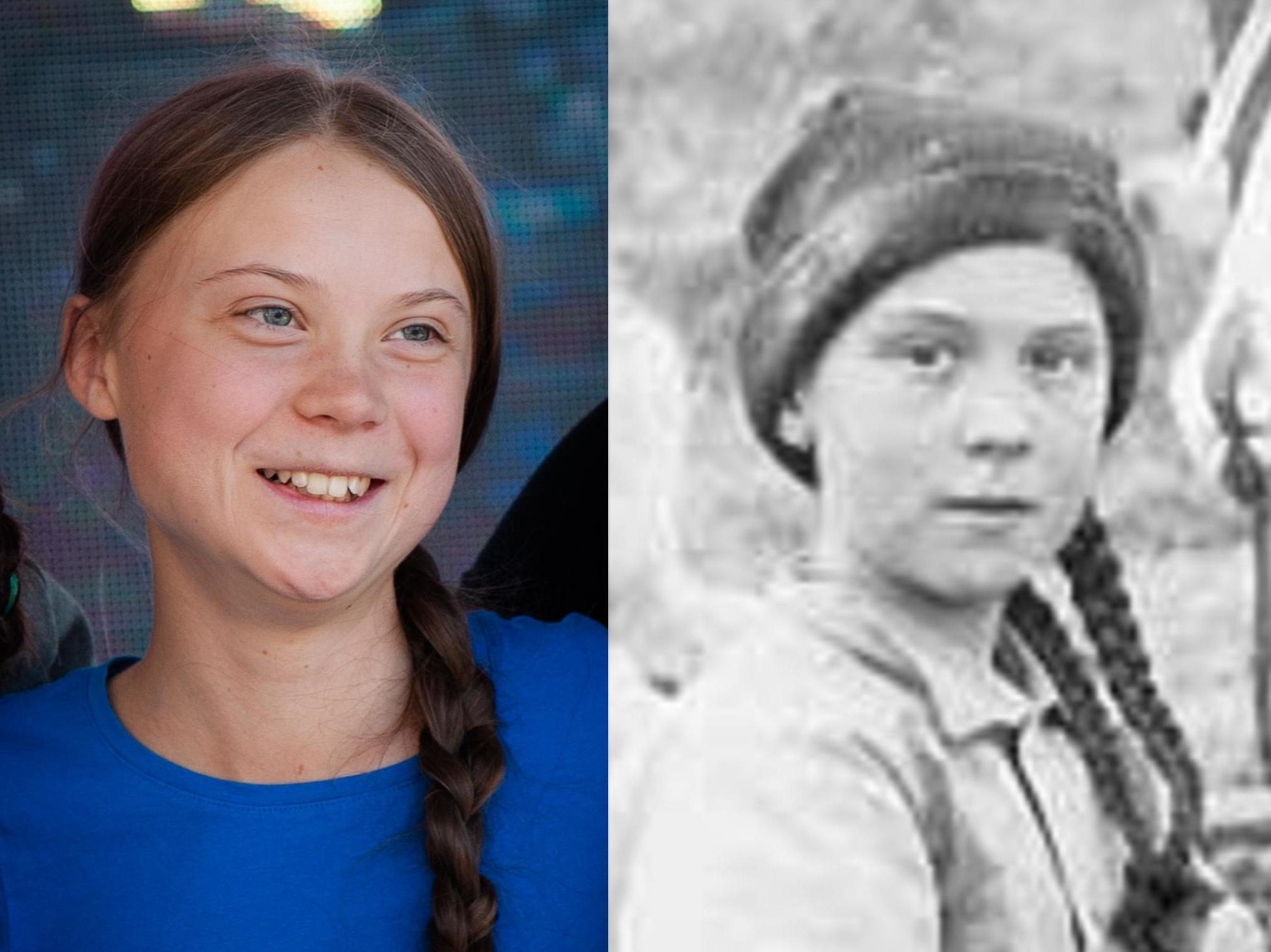 Greta Thunberg lookalike photo from 1898 prompts confusion: 'She's a time traveller sent to save us'
