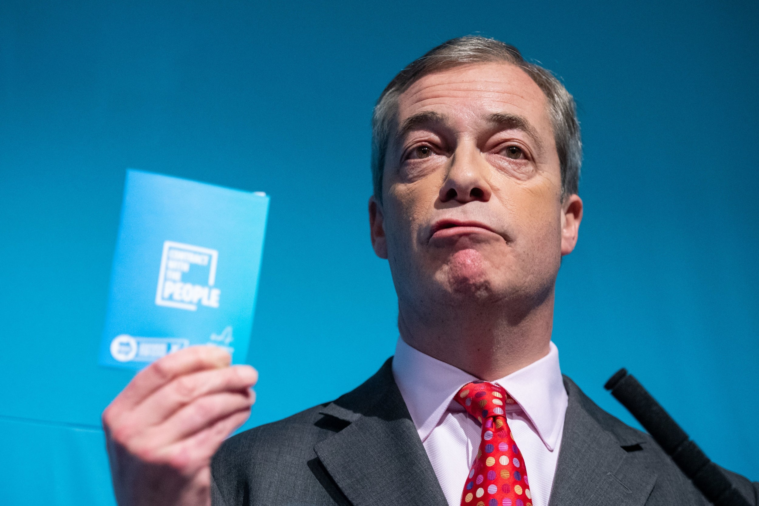 Nigel Farage is on track to securing a landslide for the Tories, as a shock poll in Grimsby shows