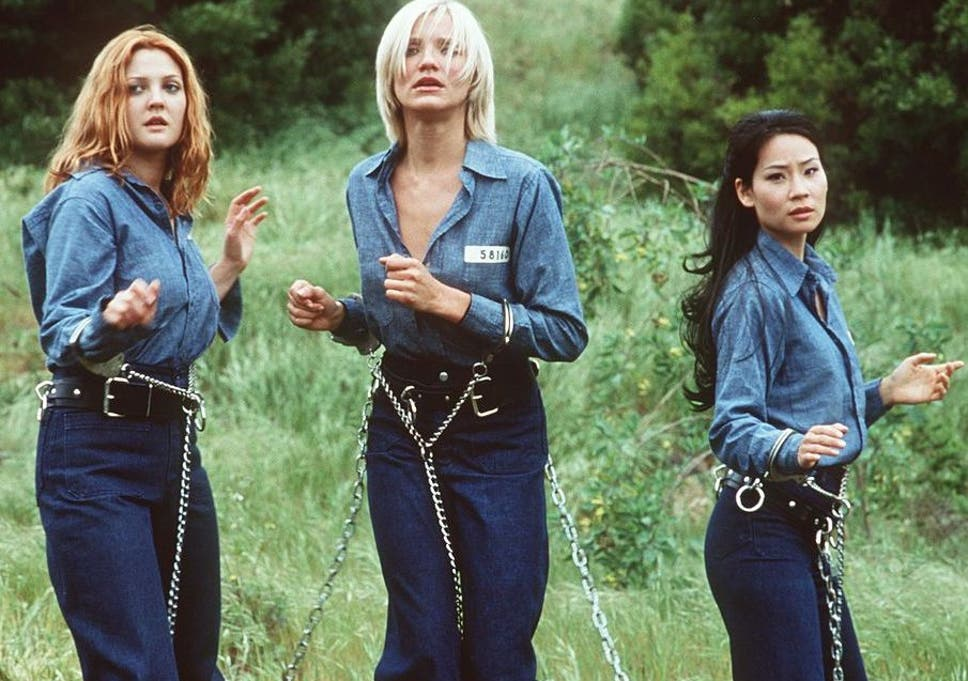 Teeth, hair and relentless butt shots: Drew Barrymore, Cameron Diaz and Lucy Liu in Charlie's Angels