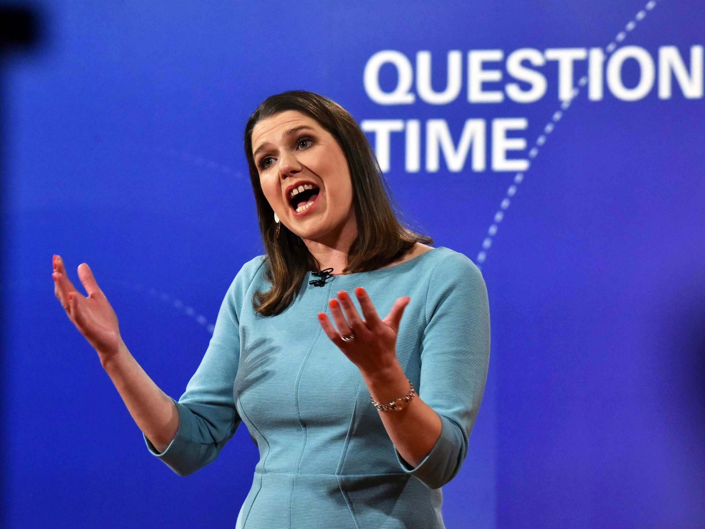 Question Time debate: Jo Swinson admits Lib Dem bar charts 'should be accurately labelled'