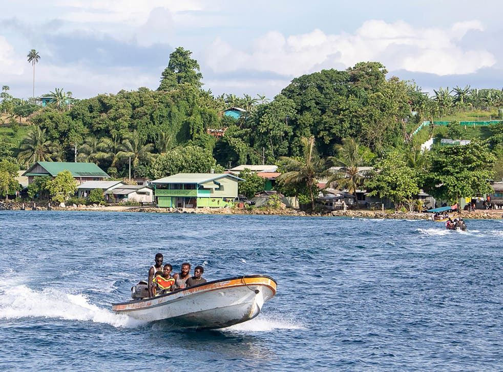 Some voters are travelling to polling stations by boat