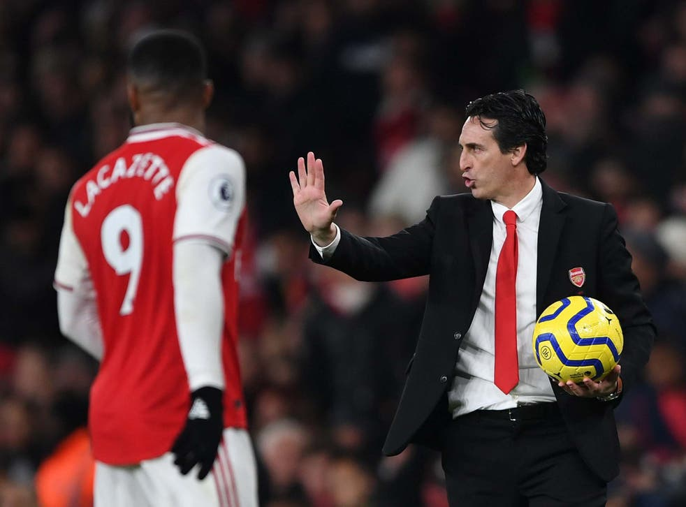 Unai Emery is under pressure after a run of poor results