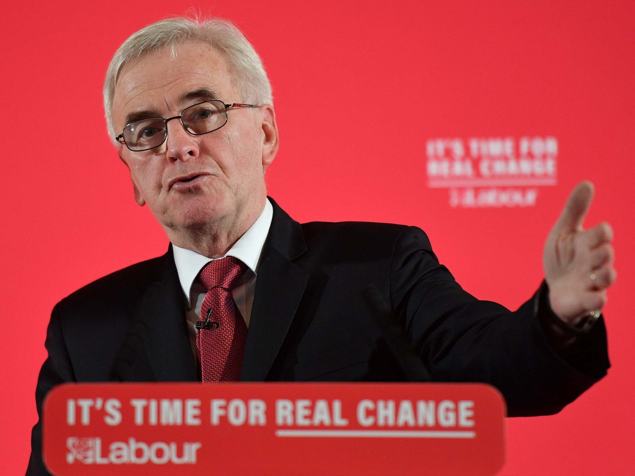 john mcdonnell - Labour pledges £58bn to compensate women hit by pension age rise