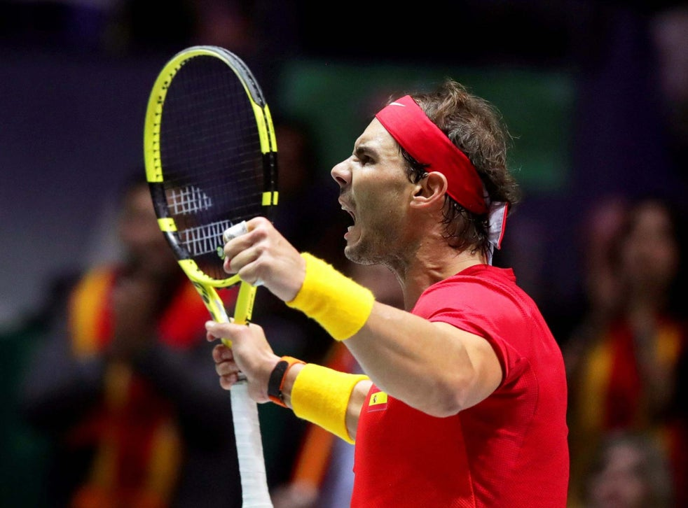 Rafael Nadal Clinches Davis Cup Victory For Spain In Straight Sets Win Over Canada S Denis Shapovalov The Independent The Independent