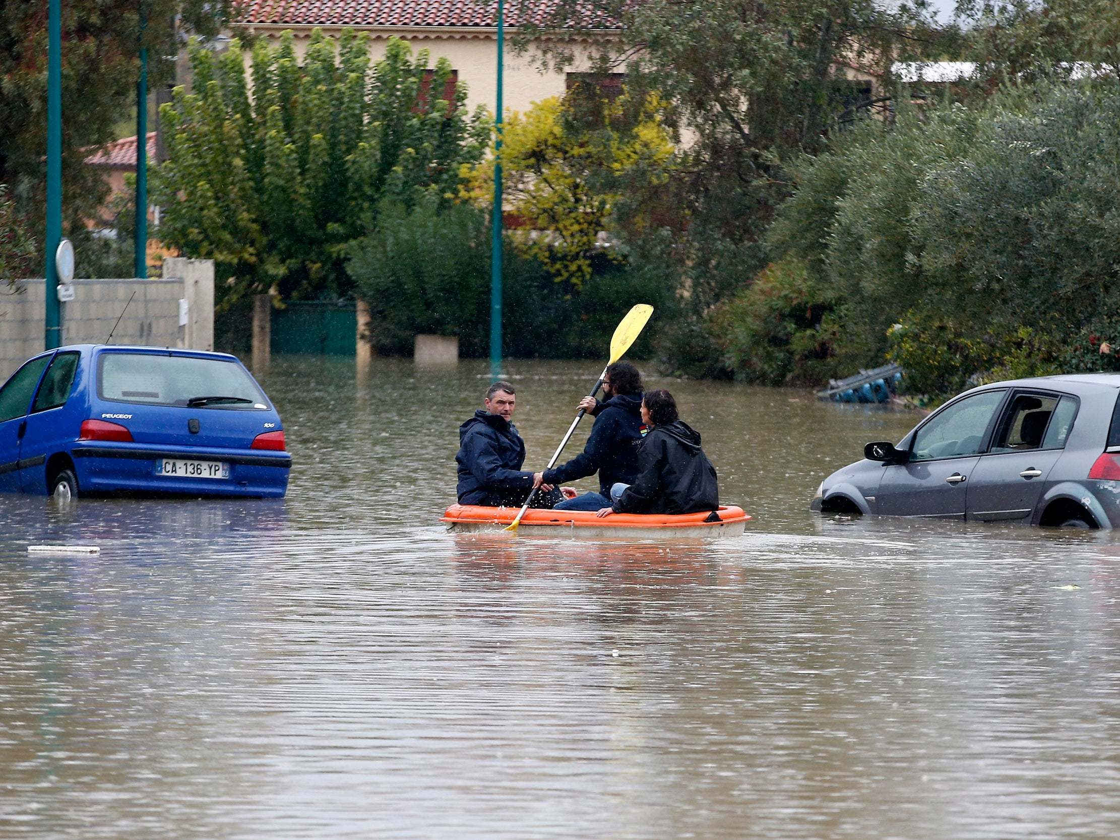 Europe storms: Nine killed in flash floods and landslides across France, Greece and Italy