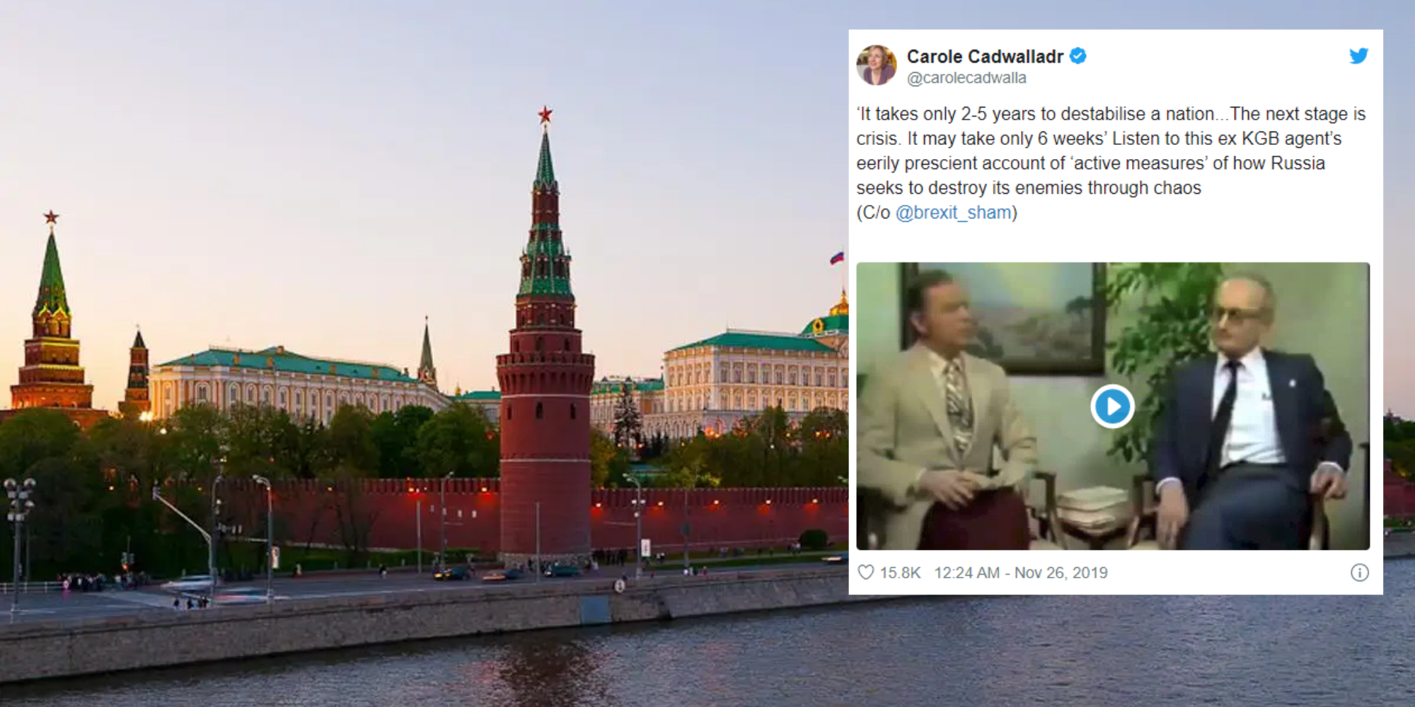 This ex-KGB agent's account of how to destabilise a nation is eerily…