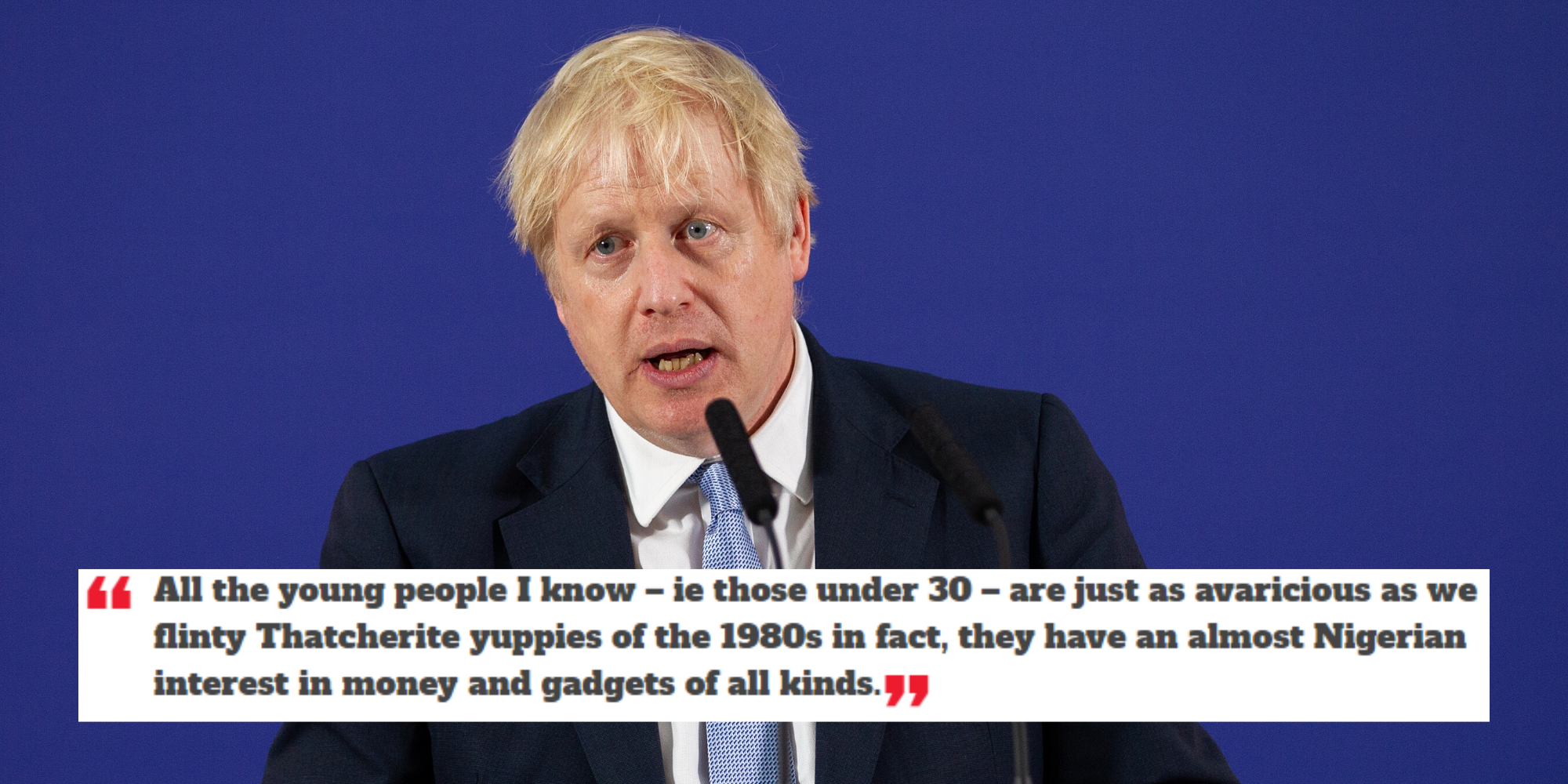 General Election Boris Johnson S Most Offensive Quotes Indy100 Indy100