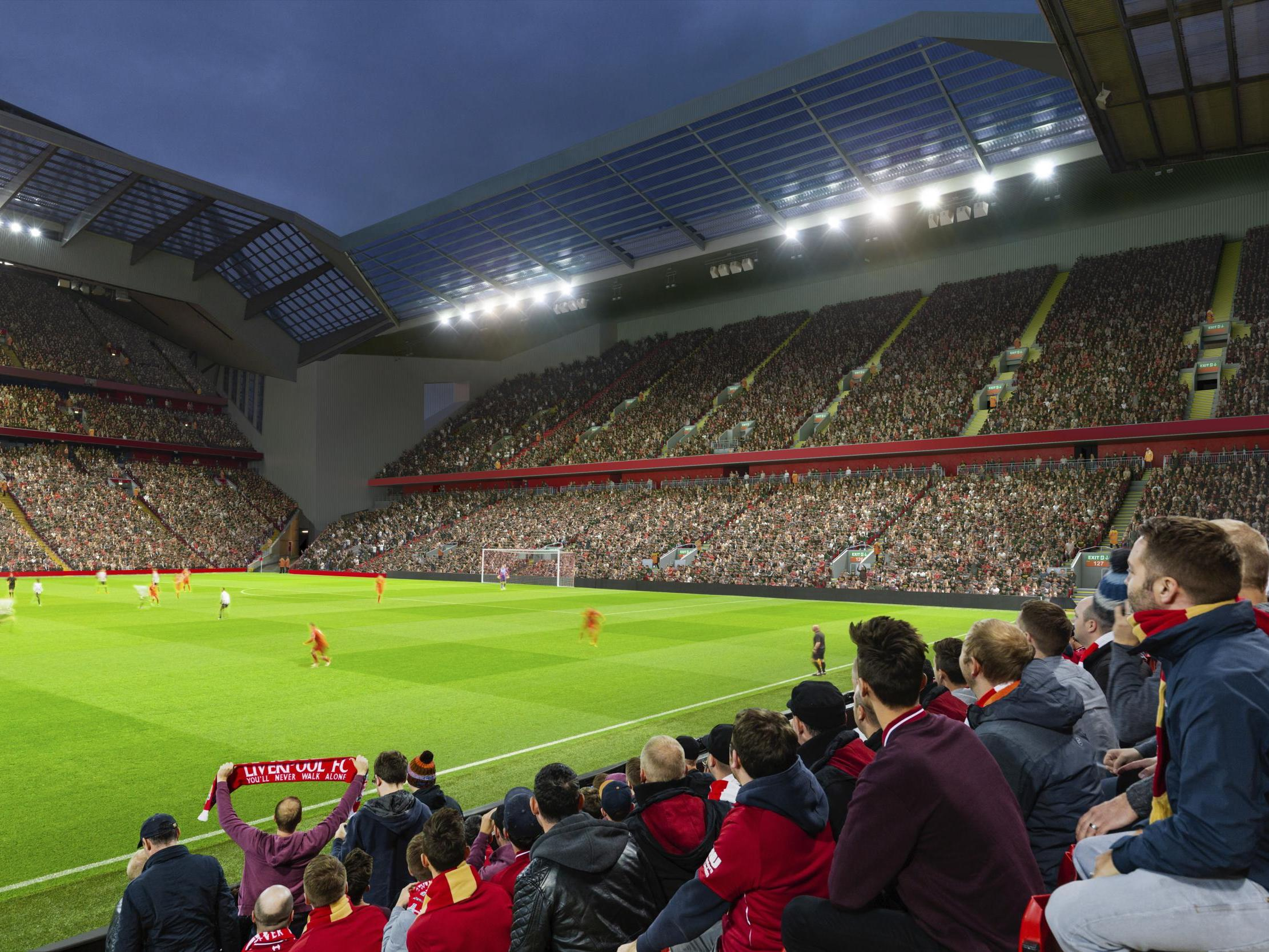 Liverpool plan £60m Anfield Road end redevelopment plan to take capacity up to 61,000