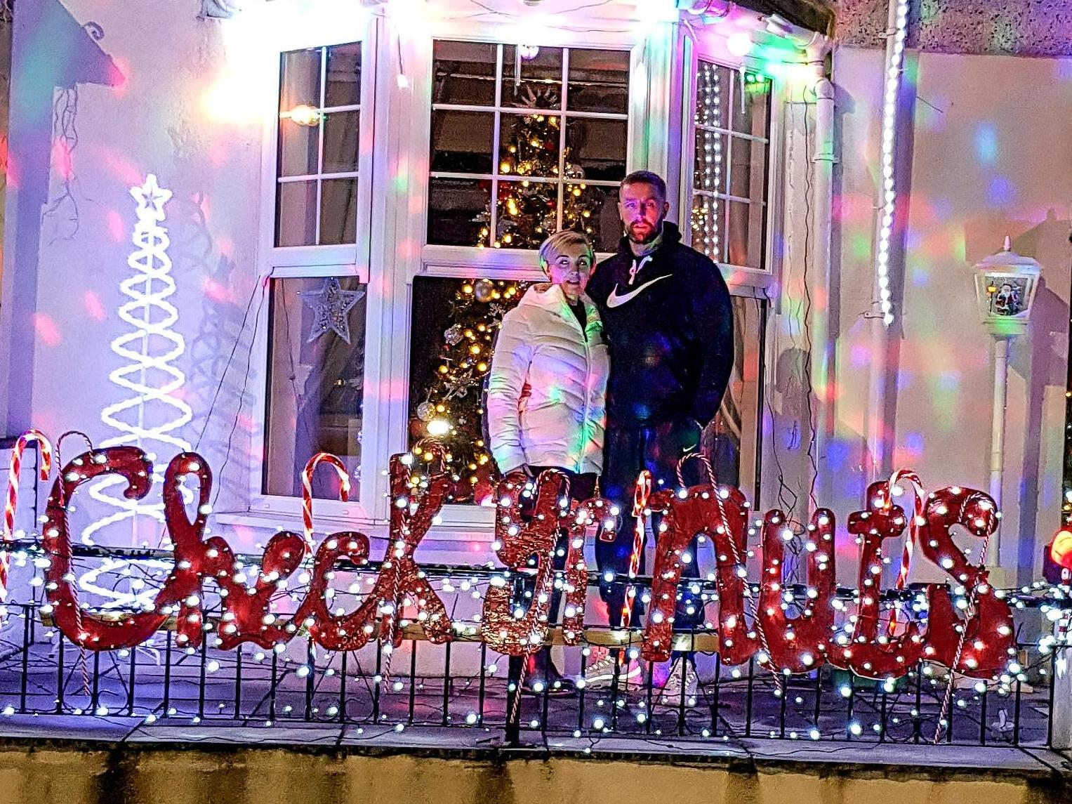 Man decorates house with 'check your nuts' Christmas lights after surviving testicular cancer