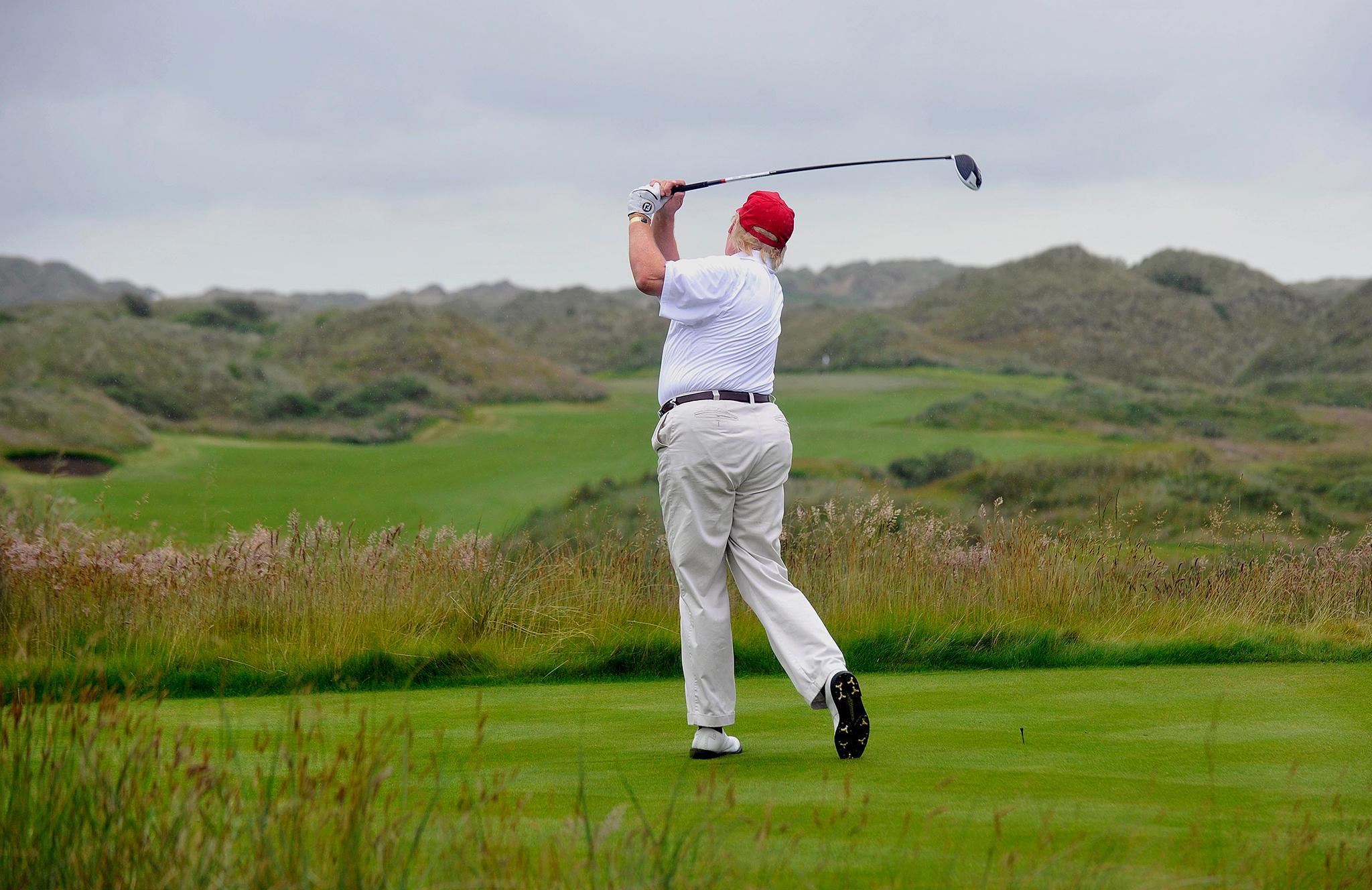 Image result for trump golfing