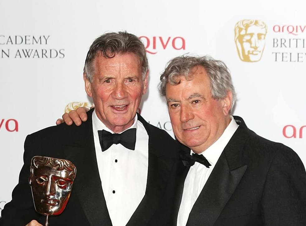 Palin and Jones together at the Baftas in London's Royal Festival Hall in 2013