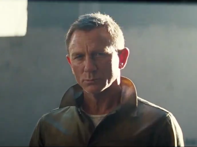 Daniel Craig in the teaser for No Time to Die