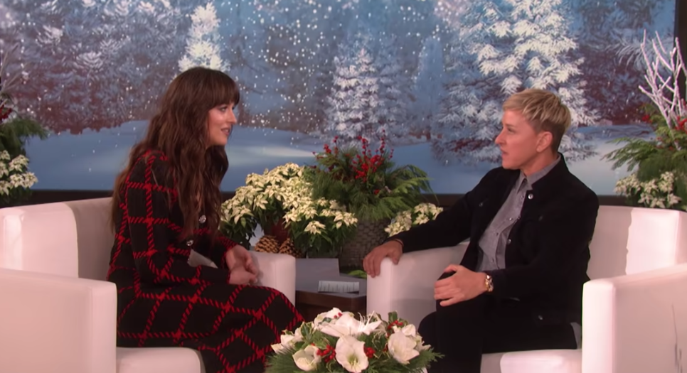 Excruciating Ellen interview with Dakota Johnson goes viral as TV host argues about birthday invitation