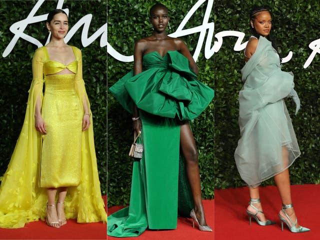 Emilia Clarke, Adut Akech and Rihanna