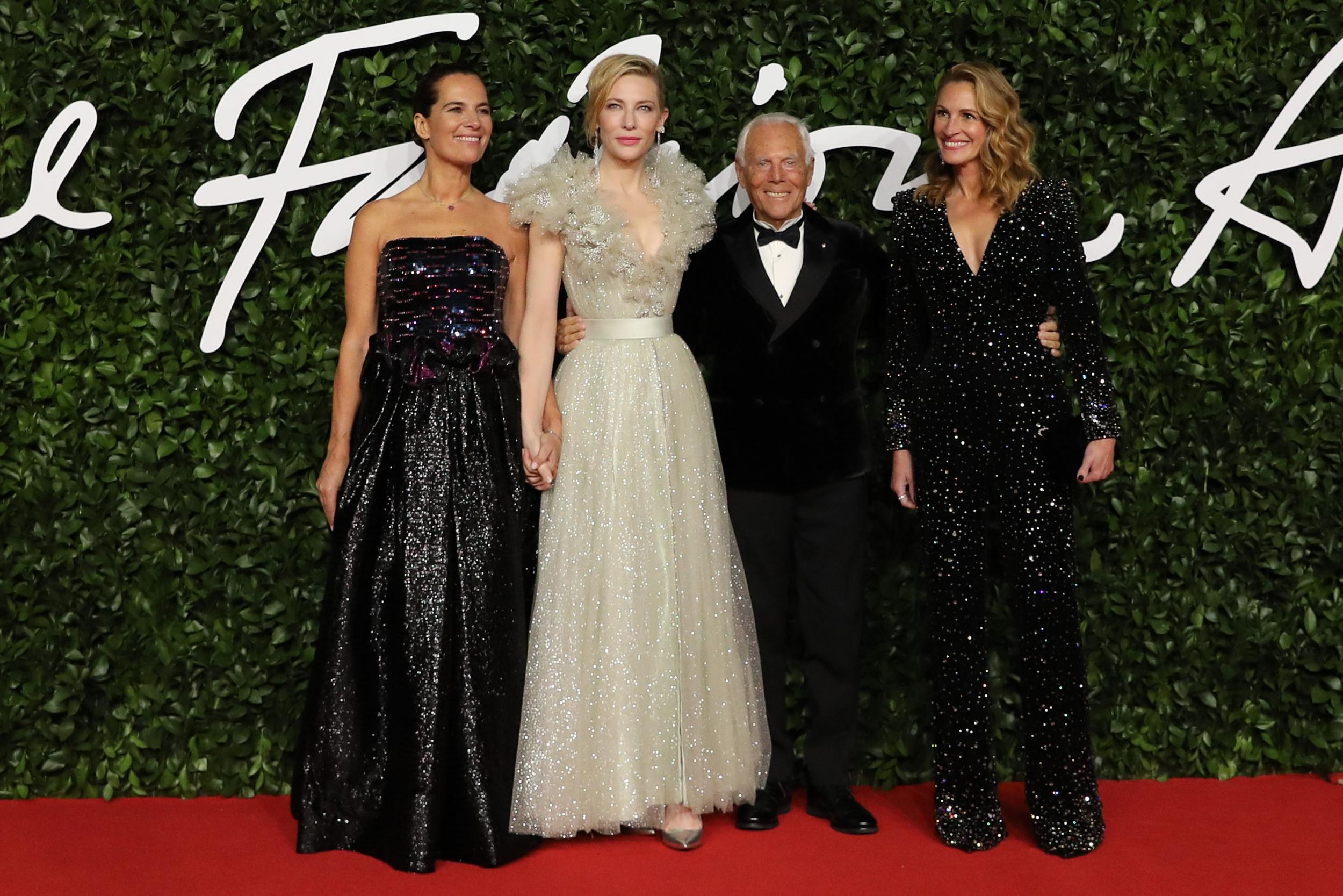 Roberta Armani, Cate Blanchett, Giorgio Armani and Julia Roberts