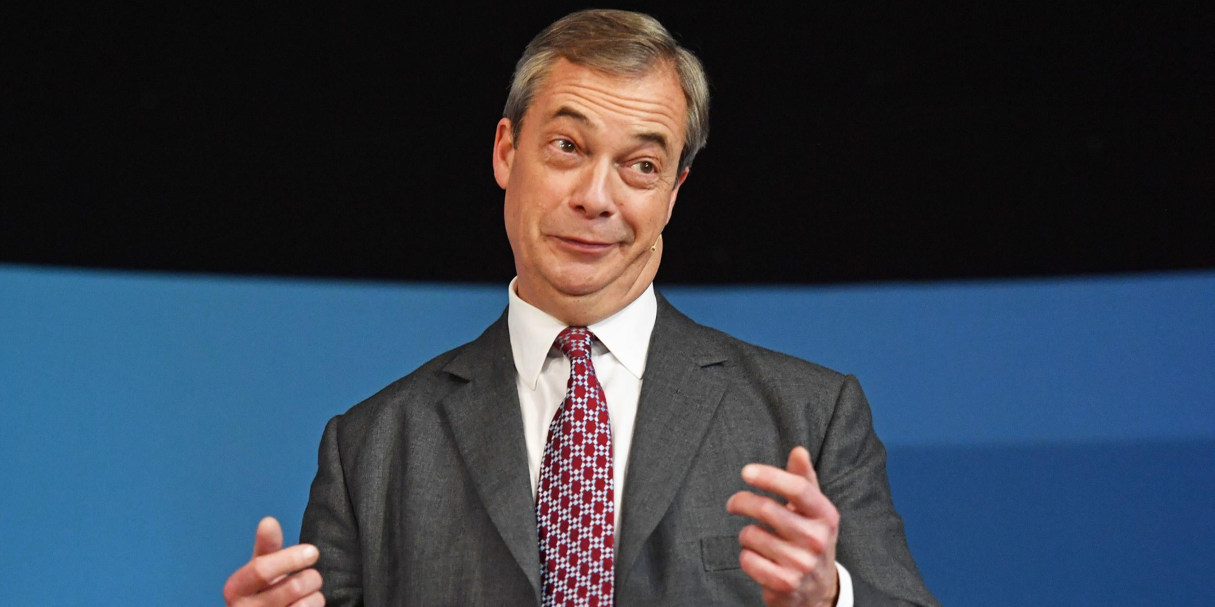 Nigel Farage is now trying to claim that anyone who doesn't support his Brexit plan is 'wrong'