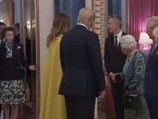 Princess Anne spotted shrugging at Queen as she talks with Trump