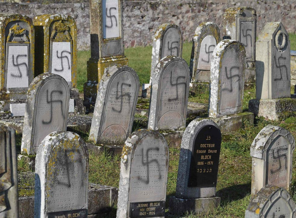 Antisemitic: the defaced Jewish graves in Westhoffen, France