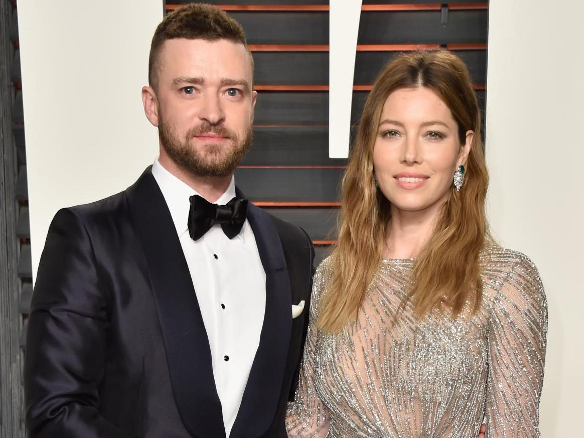 Justin Timberlake apologises to wife Jessica Biel after holding hands with co-star Alisha Wainwright