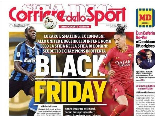 Romelu Lukaku and Chris Smalling respond to Corriere dello Sport's 'Black Friday' headline