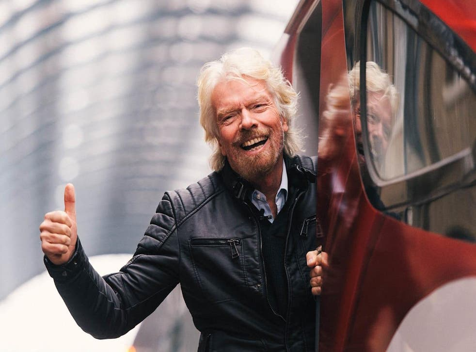 Happier times: Sir Richard Branson before Virgin Trains lost its West Coast Main Line franchise