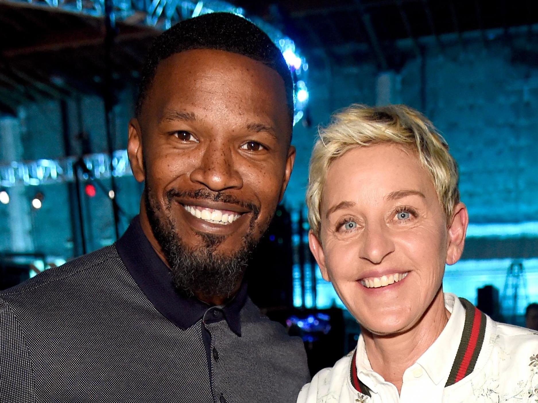 Jamie Foxx defends Ellen's decision to attend football game with Geo…
