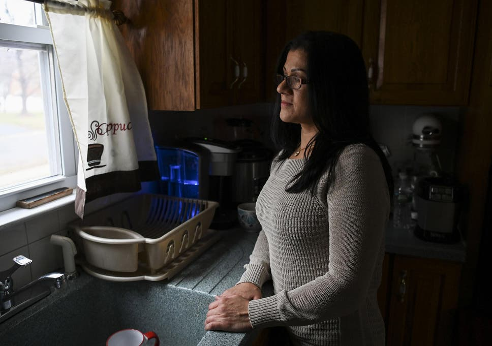 Sandra Diaz, a former employee of the Trump National Golf Club Bedminster and an undocumented migrant, at her home in Bound Brook, New Jersey