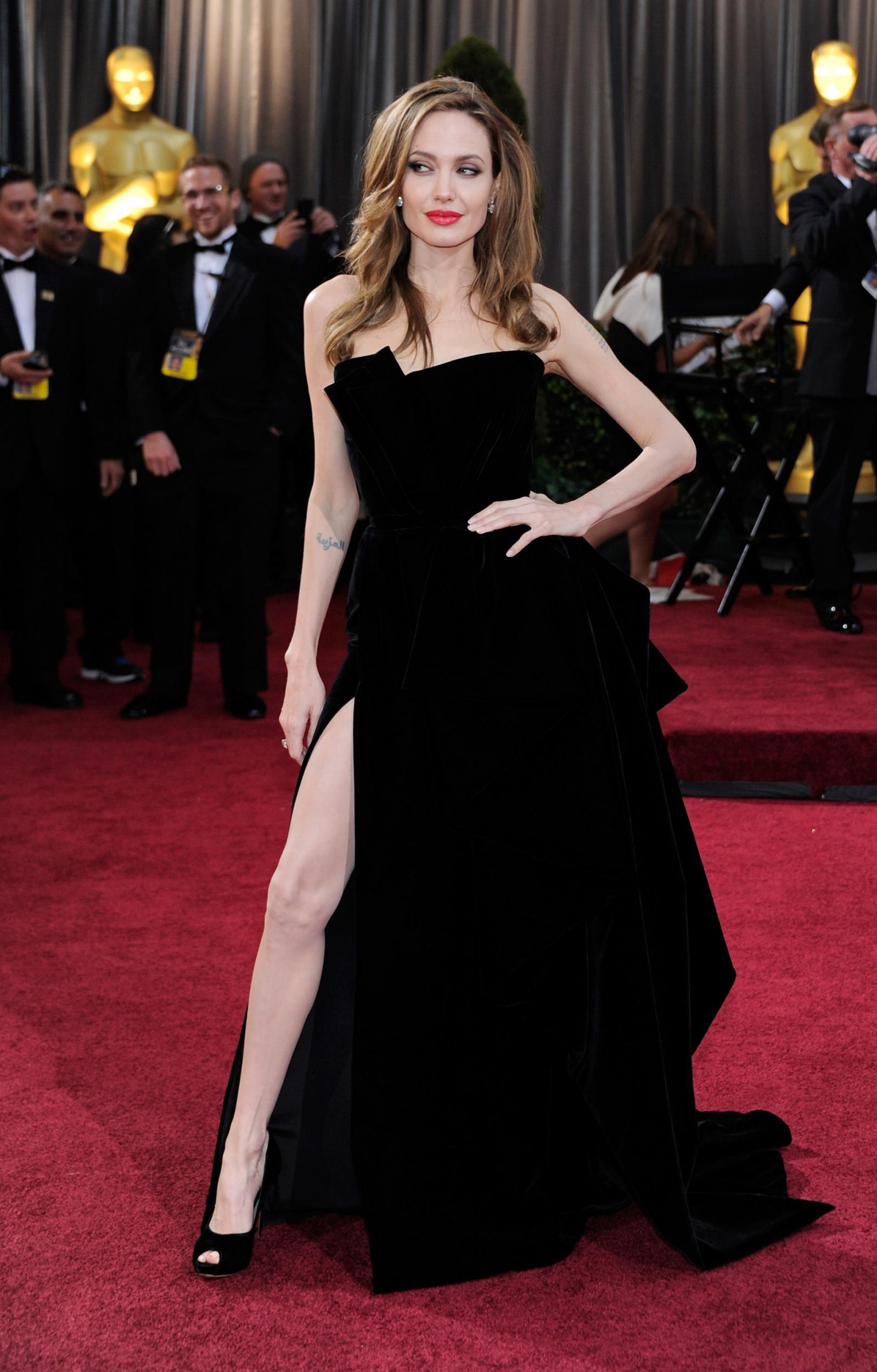 11 - Angelina Jolie's 'leg' dress, Versace, 2012