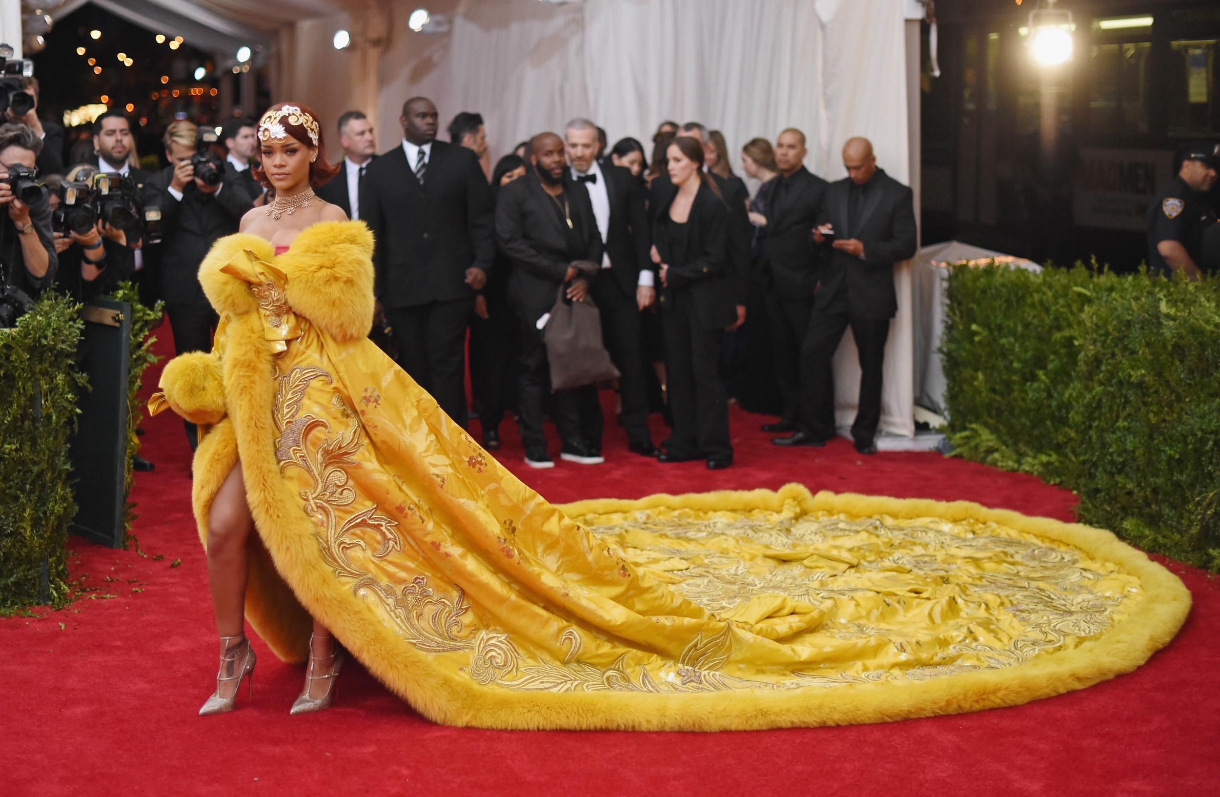 6 - Rihanna's Met Gala dress, Guo Pei, 2015