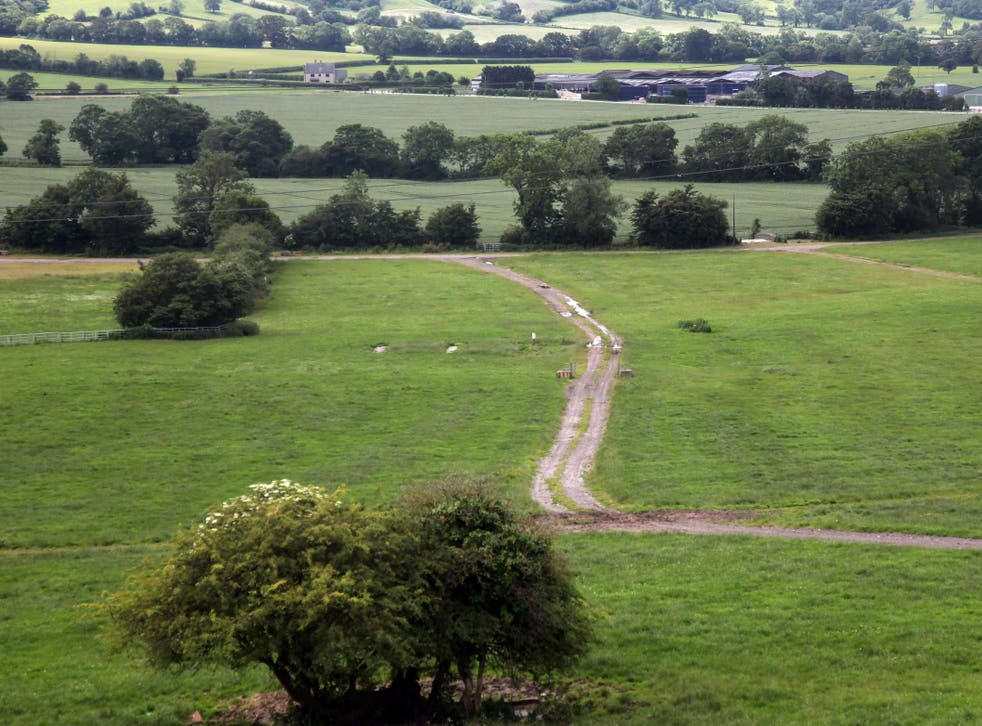 General view of fields in Somerset.