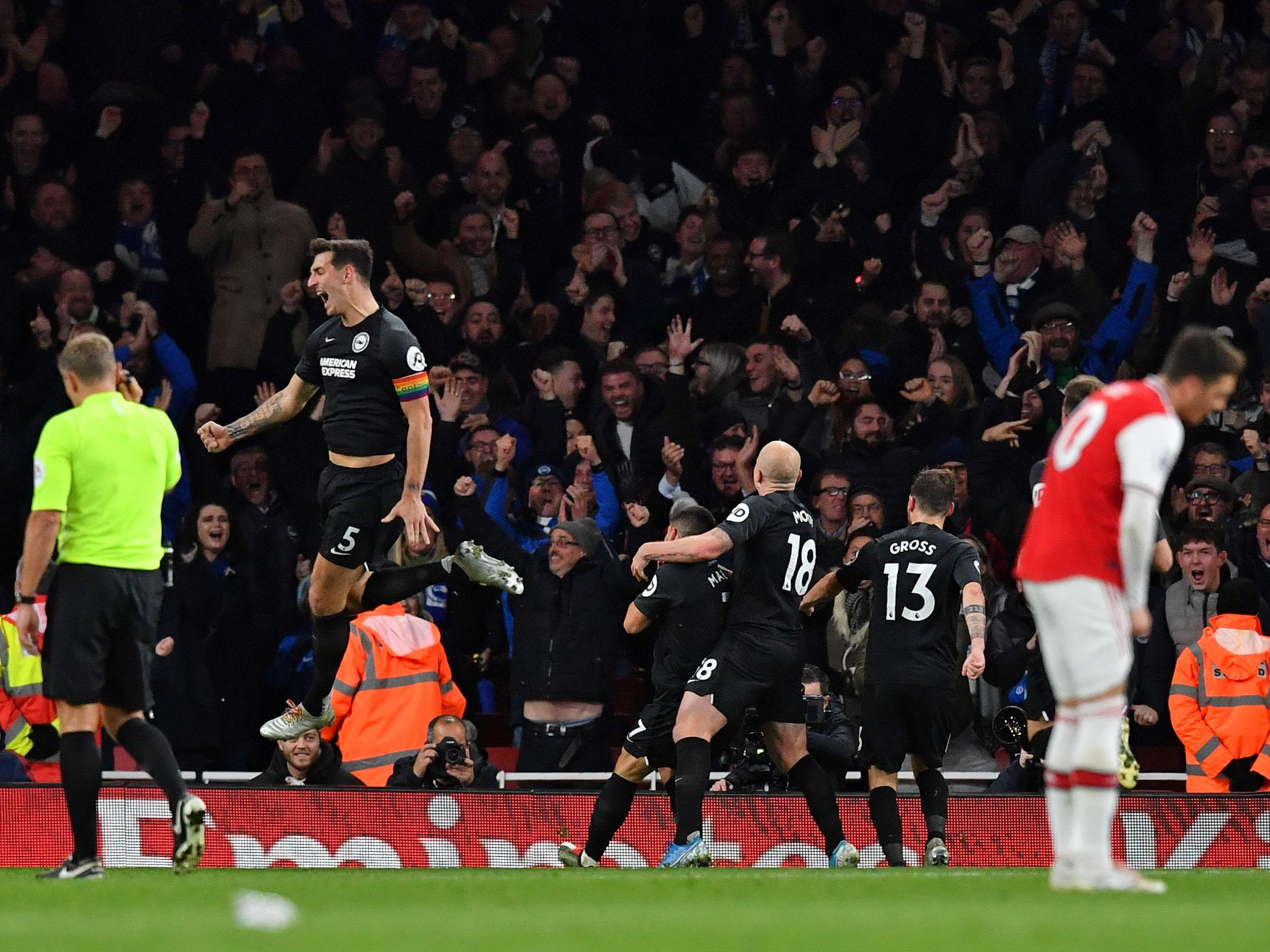 Opposition teams are using Arsenal's disgruntled fan base against them, says Brighton defender Lewis Dunk
