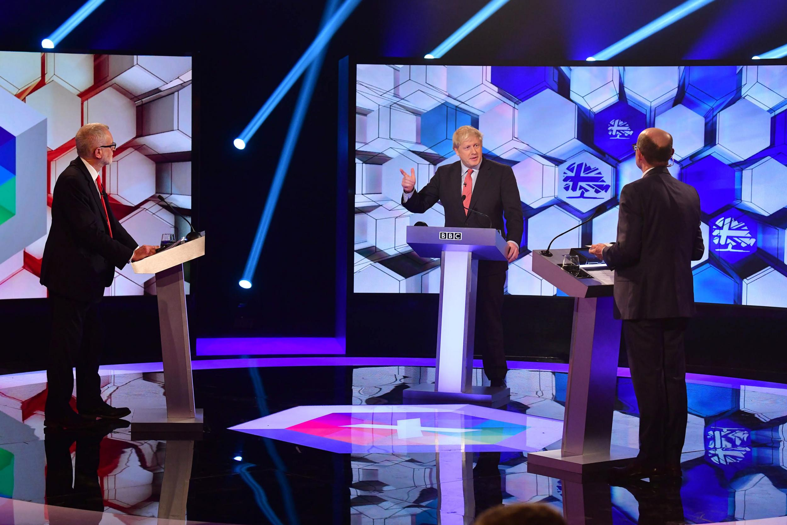 BBC election debate: Johnson forced to confront comments from father of Jack Merritt during discussion on security