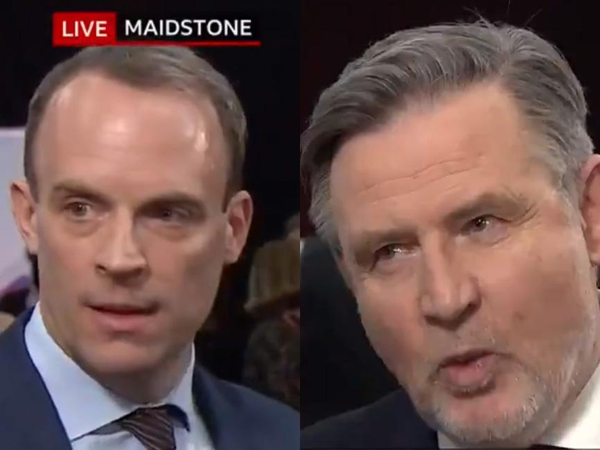 'Dominic, why are you sweating and I'm not?': Labour's Barry Gardiner tears into Tory minister in live BBC clash