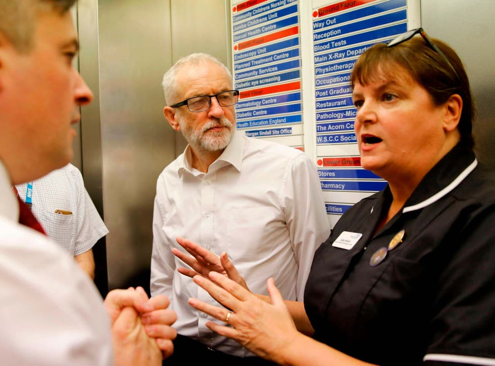 Jeremy Corbyn is keen to hammer home Labour's manifesto pledge to invest £10bn in creating a new National Care Service