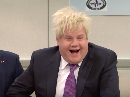 screen shot 2019 12 08 at 08.49.01 - Saturday Night Live: James Corden plays Boris Johnson in 'good-looking bad boys of NATO' sketch