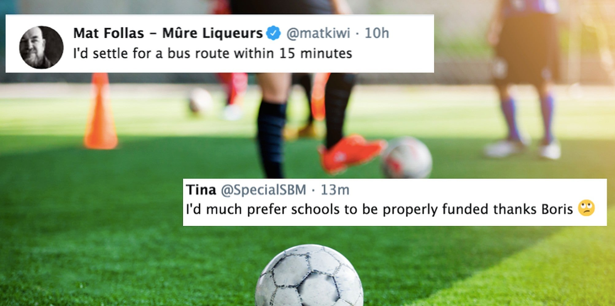 The Tories want everyone to be 15 minutes away from a 'great' football pitch. But people have other ideas