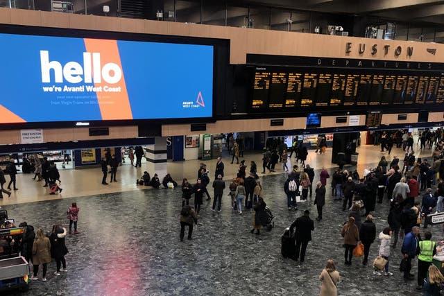 All change: Avanti announces its arrival at London Euston
