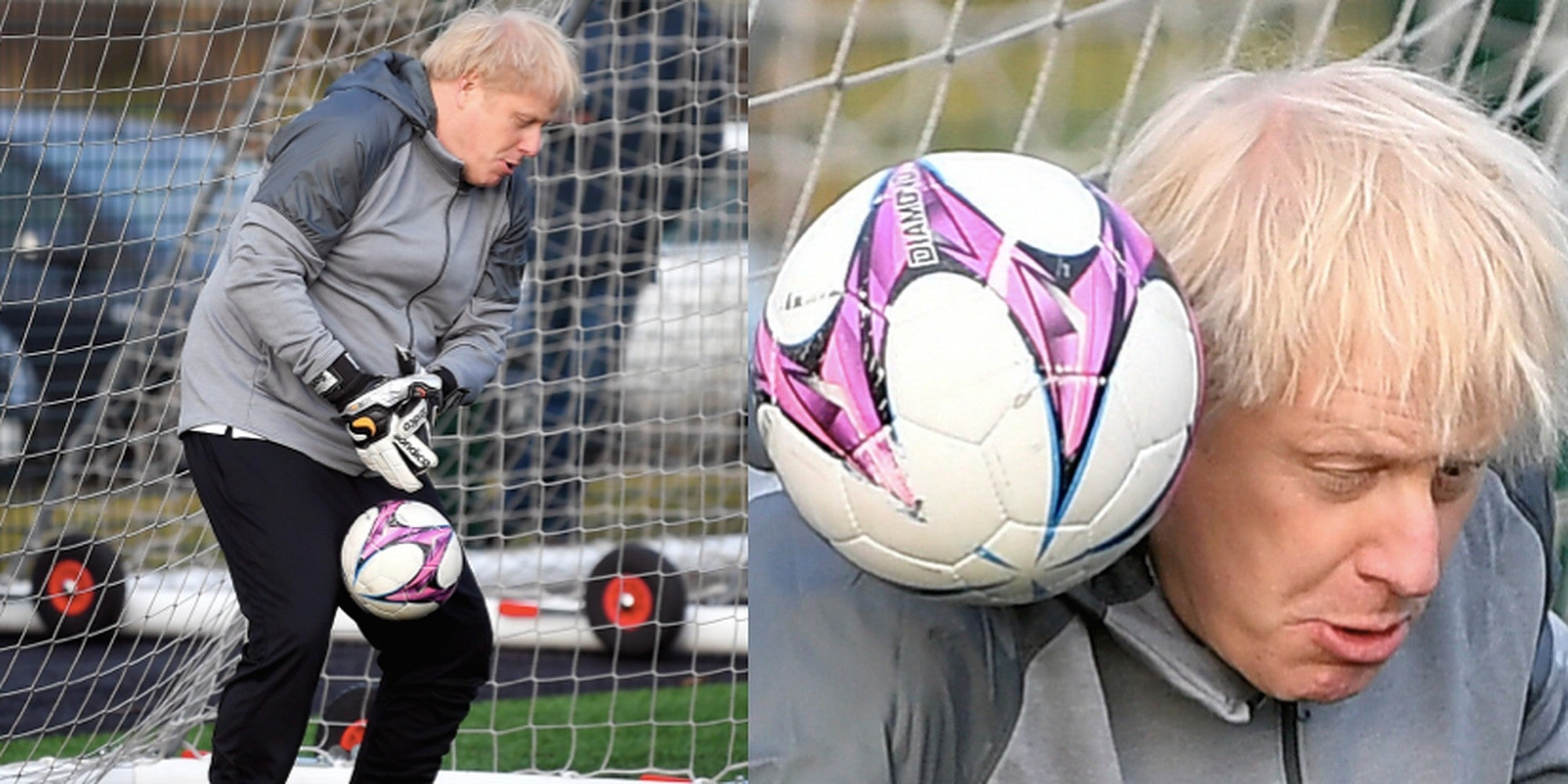 Boris Johnson went in goal at a children's football match and it wen…