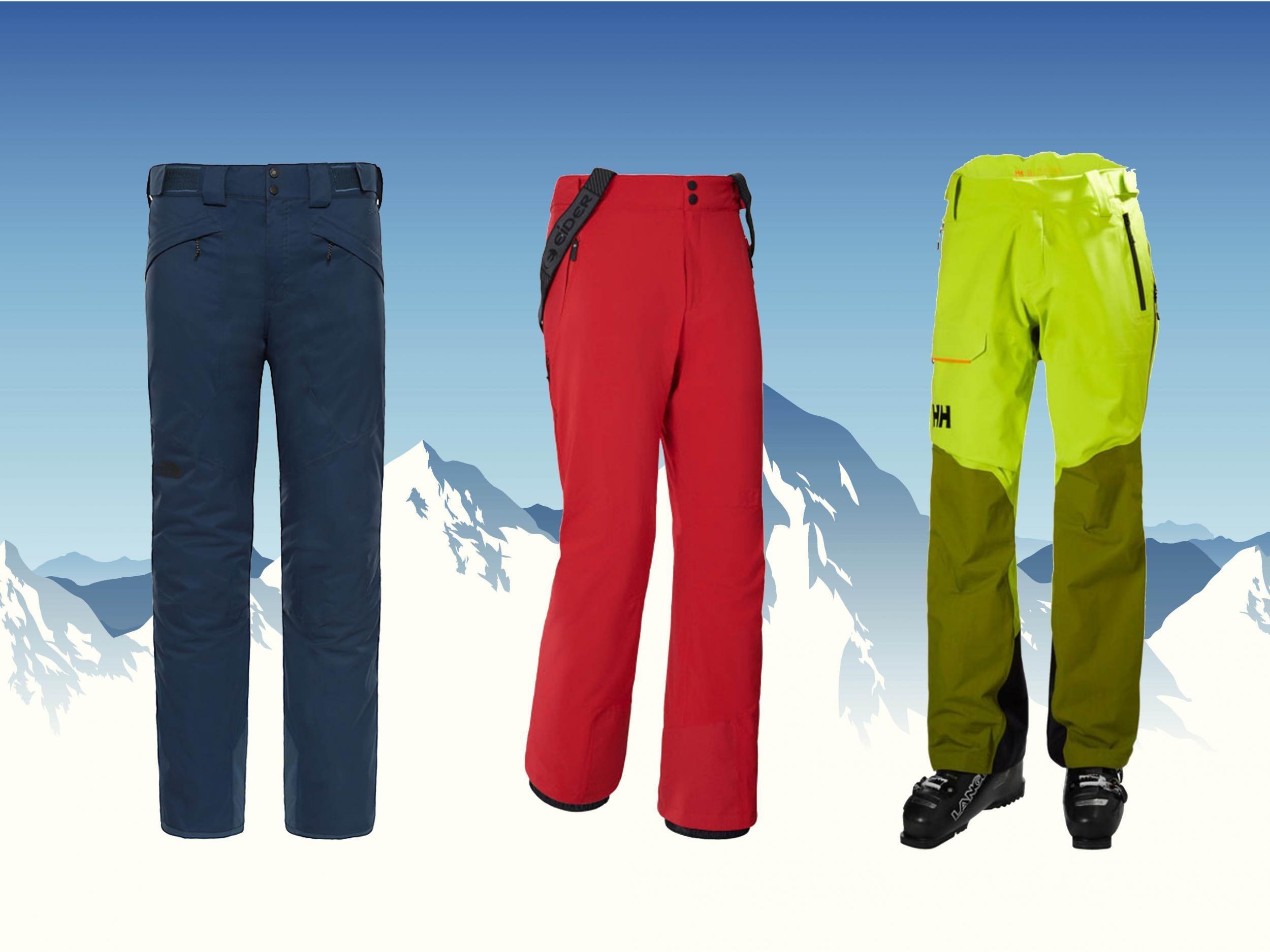 Men Fleece Skiing Pants Waterproof Climbing Pants Windproof Snowboard Snow Pants