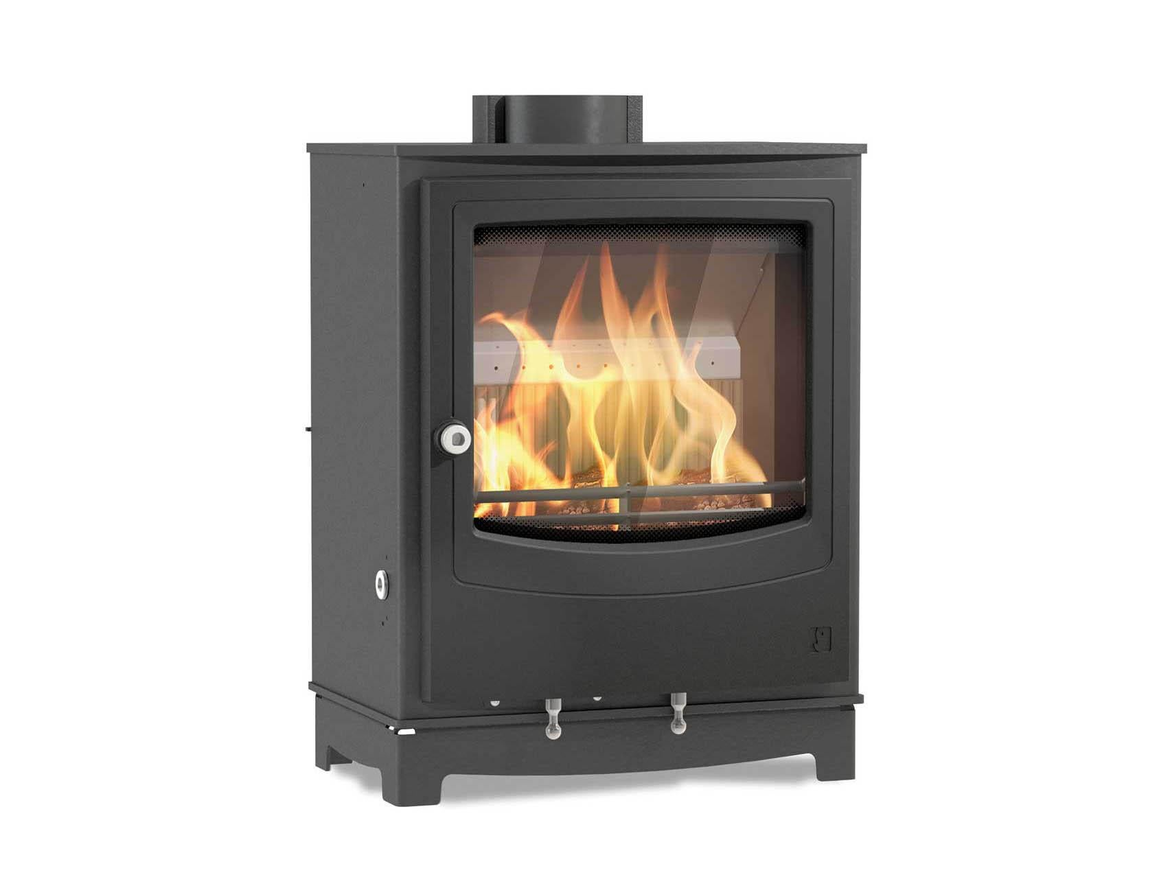 Free Shipping!! Black Finish Hearth Center Store Logs