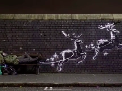 Banksy unveils new street art in Birmingham highlighting homelessness