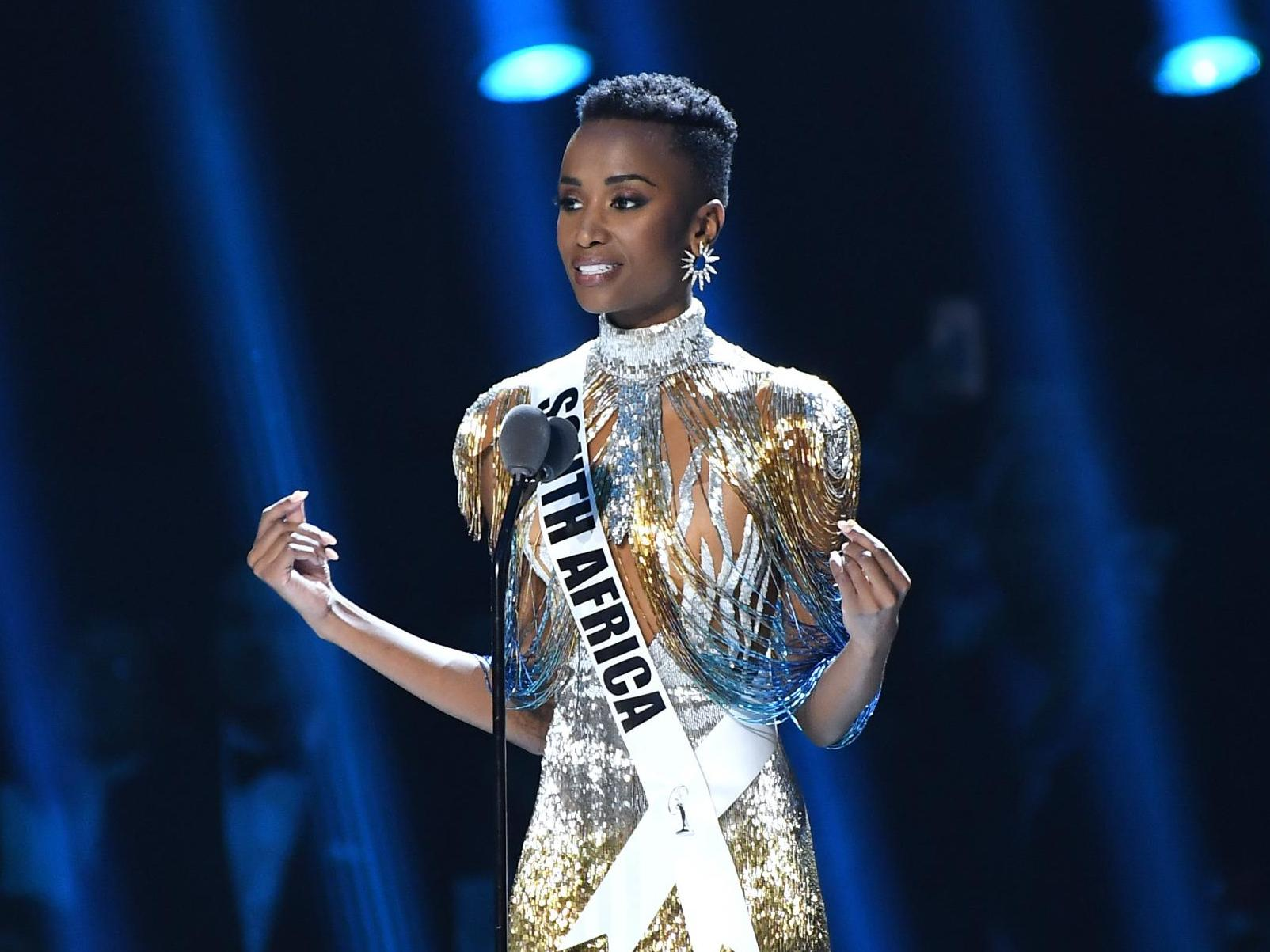 Miss Universe winner says her skin and hair were 'never considered beautiful' when growing up