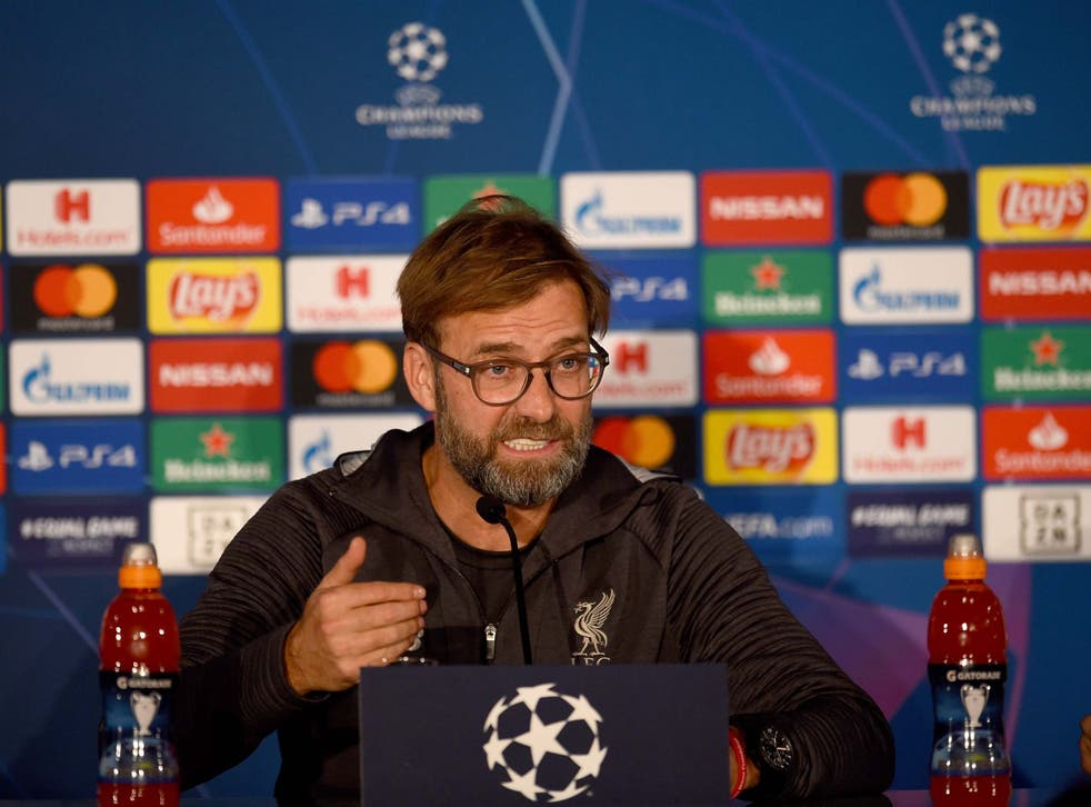 Jurgen Klopp speaks to the media in Salzburg