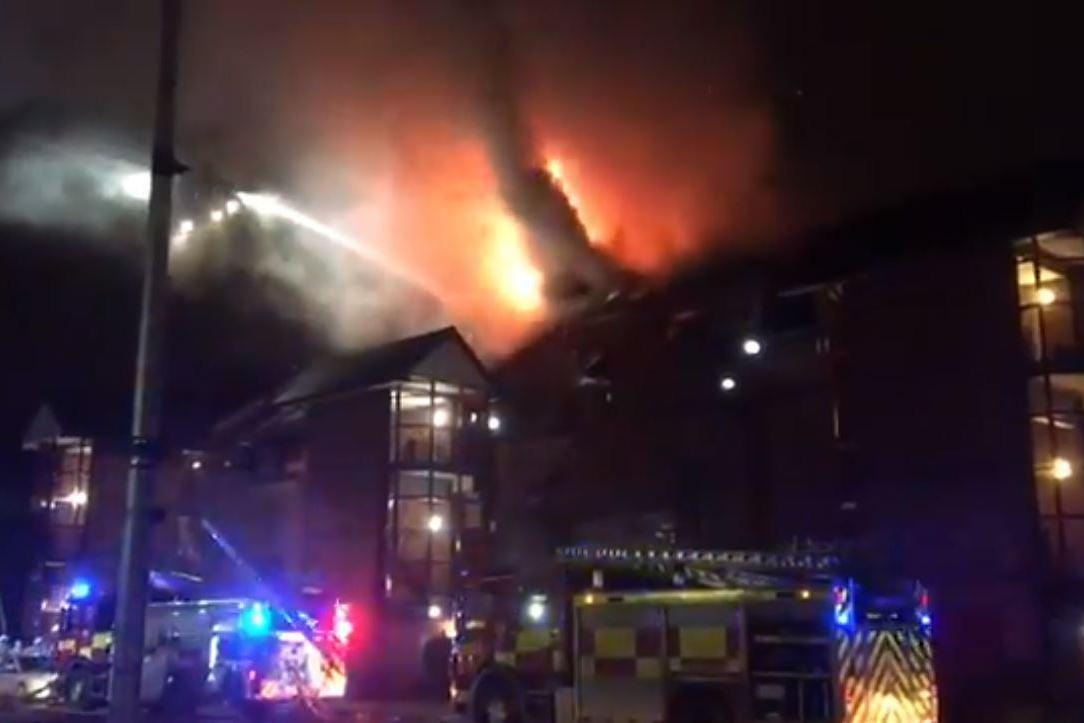 Glasgow fire: Dozens of firefighters tackling blaze at block of flats in city centre