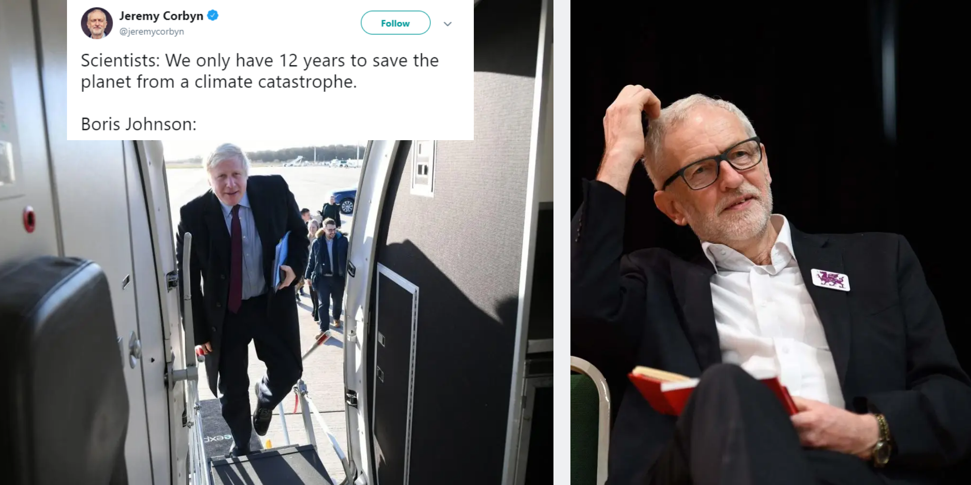 Jeremy Corbyn just used the perfect meme to attack Boris Johnson's 25 minute flight in private jet