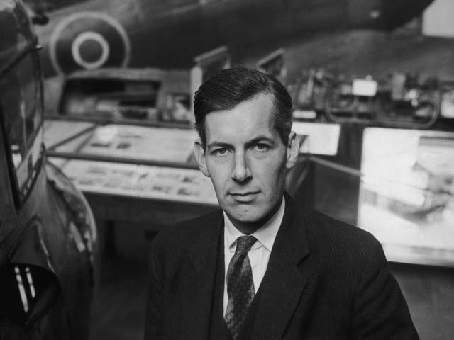Frankland with some of the aircraft on display at the Imperial War Museum in 1961