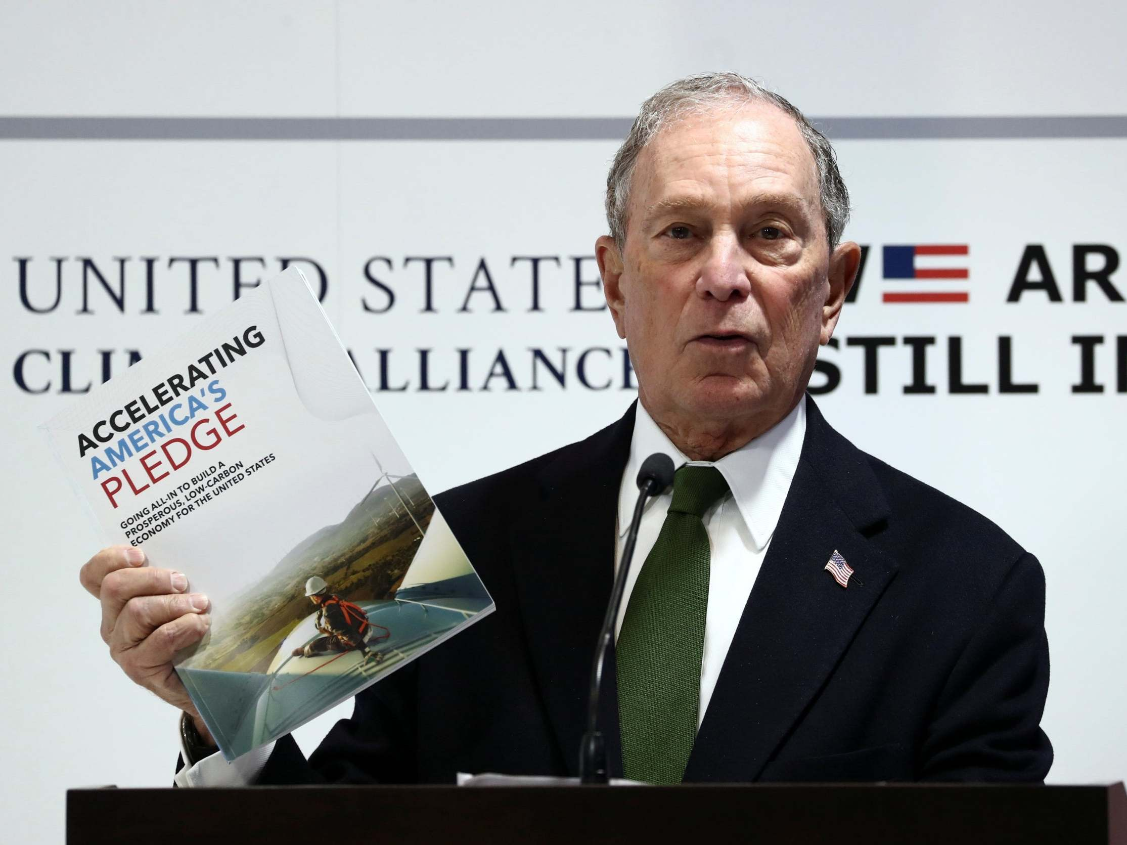 In Trump's absence, presidential hopeful Bloomberg takes centre stage at key climate summit